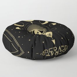 L' Imperatrice or The Empress Tarot Gold Floor Pillow