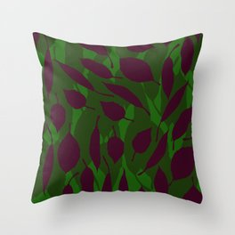 Jungle leaf Green Throw Pillow