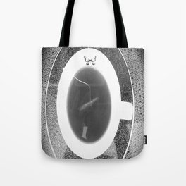 black and white butterfly tea cup Tote Bag