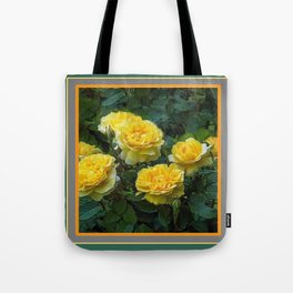 BLOOMING YELLOW SUMMER ROSE GARDEN Tote Bag