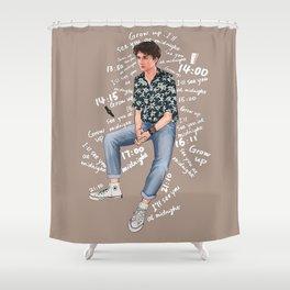 Timothee Chalamet Digital Drawing Shower Curtain