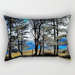 Trees, Daylight Stoney Hill Rectangular Pillow