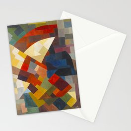 Otto Freundlich Composition, 1930 Colorful Geometric Painting Stationery Cards