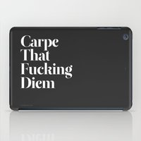 camp iPad Cases featuring Carpe by WRDBNR