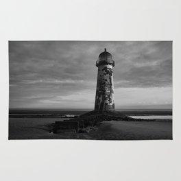 Talacre Lighthouse Black And White Rug
