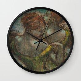 "Edgar Degas ""Two dancers - half-length"" Wall Clock"