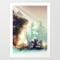 uncharted Art Prints featuring Uncharted by Zomby Robin