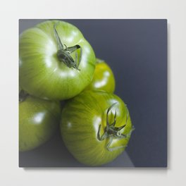 Green zebra tomatoes Metal Print