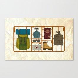 Camping Kit Canvas Print