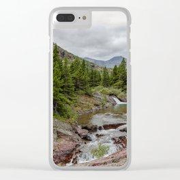 Upper Redrock Falls - Glacier NP Clear iPhone Case