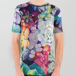 Succulent Garden All Over Graphic Tee