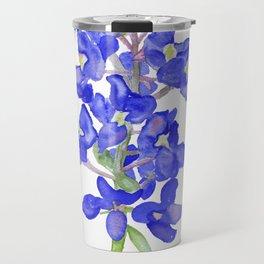 Bluebonnet Watercolor Travel Mug