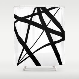 A Harmony of Lines and Shapes Shower Curtain