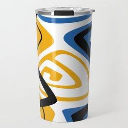 Blue & Yellow Craze Travel Mug