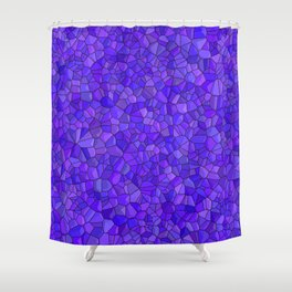Sapphires and Amethysts Shower Curtain