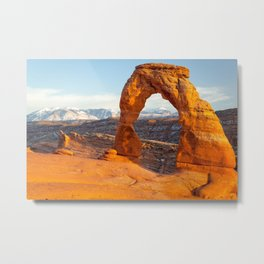 DELICATE ARCH SUNSET ARCHES NATIONAL PARK UTAH Metal Print