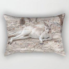 Relaxing Kangaroo, Australia Rectangular Pillow
