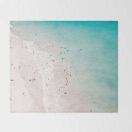beach - summer love II Throw Blanket