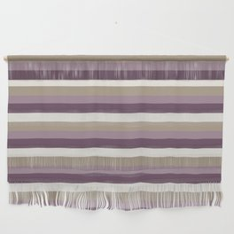 Stripes in Magenta, Lavender and Cream Wall Hanging