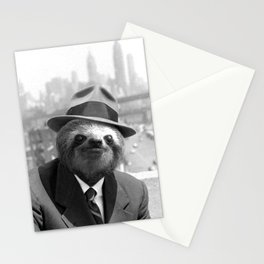 Sloth in New York Stationery Cards