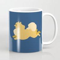 pomeranian Mugs featuring Precious Pomeranian Primary by Emily Woodson