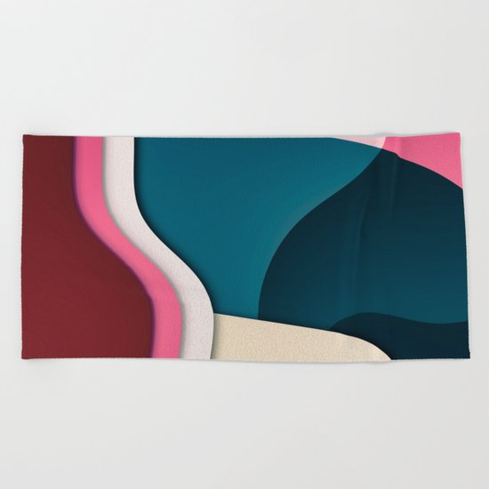 Dinner with Friends Beach Towel