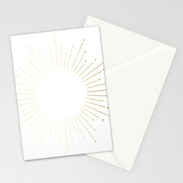 Mod Sunburst Gold 2 Stationery Cards