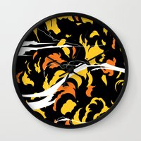 akira Wall Clocks featuring Akira Clouds by We Are Godmode