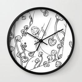 Mushroom Lady Wall Clock
