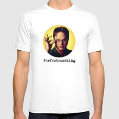 Perfectenschlag  |  Dwight Schrute LARGE White Mens Fitted Tee
