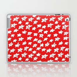 Stars on red background Laptop & iPad Skin