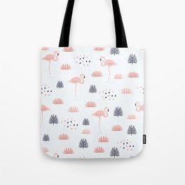 Minimal Flamingo Tote Bag
