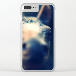 He Fades Clear iPhone Case