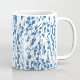 Petite Double Pussywillow Pattern — Blue Coffee Mug