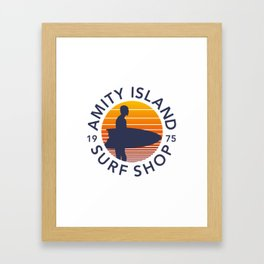 Amity Island Surf Shop Framed Art Print
