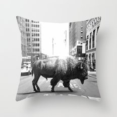 STREET WALKER Throw Pillow
