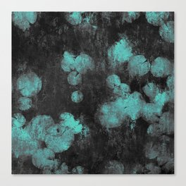 Lilypad in summer blue Canvas Print