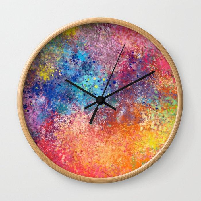 Galaxy Rainbow Wall Clock