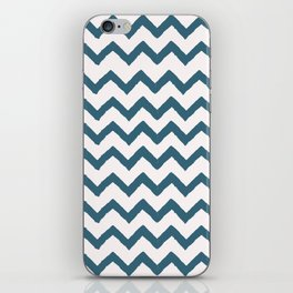 Chevron Teal iPhone Skin