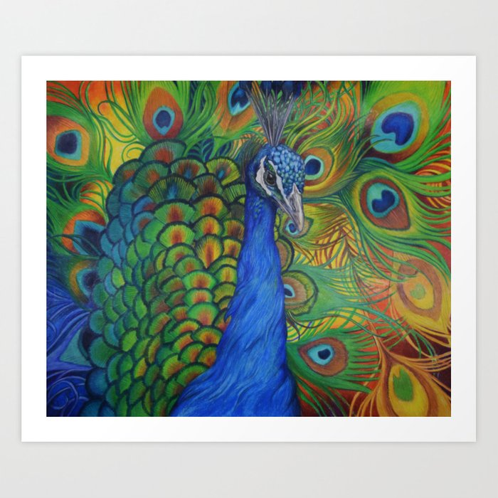 Peacock Pencil Art Design Images