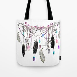 Raven Feathers And Roses Crystal Spirit Gazer Tote Bag
