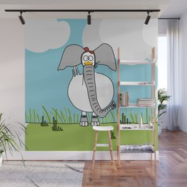 Eglantine la Poule (the hen) dressed up as an elephant Wall Mural