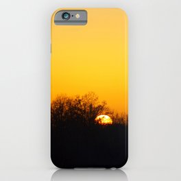 Sunset and cranes natural landscape from France iPhone Case