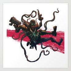 Agent Venom Art Print
