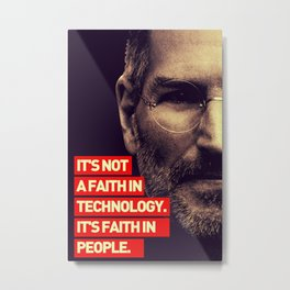 Office SteveJobs Quote Metal Print