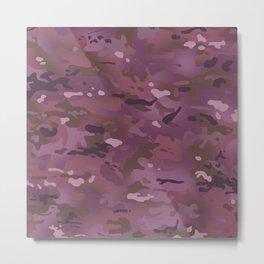 Camouflage: Pink & Purple Metal Print