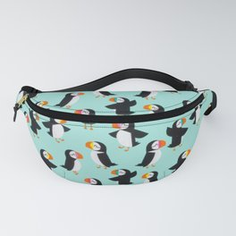 Puffin Blue Pattern Fanny Pack