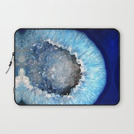 Blue Crystal Geode Laptop Sleeve