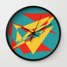 Onwards and Upwards - Geometric Abstract Wall Clock