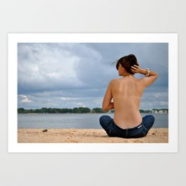 Turn Your Back To The Wind. Art Print